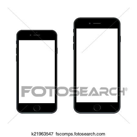450x449 Clip Art Of New Smartphone Iphone 6 K21963547