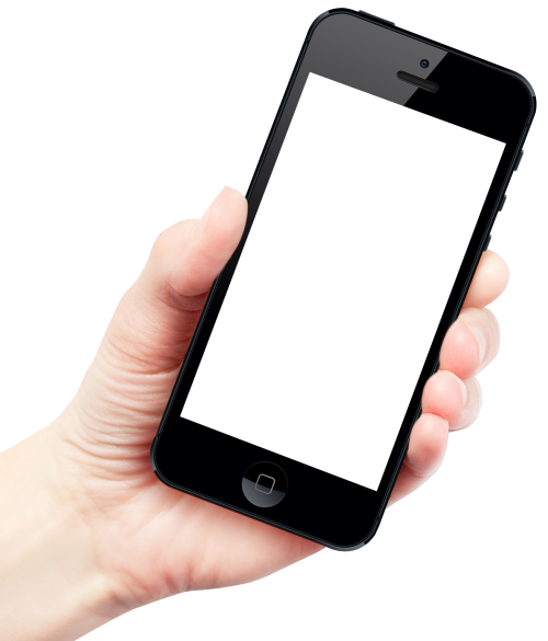 500x585 Hand Holding Smartphone Png Image
