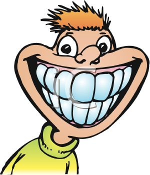 300x350 Picture Of A Boy With A Giant Smile Showing His Teeth In A Vector
