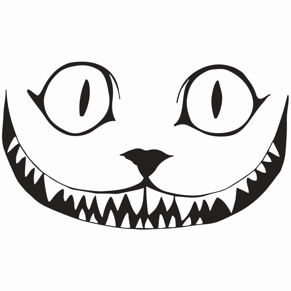 1000x1000 Cheshire Cat Smile Clip Art Cliparts