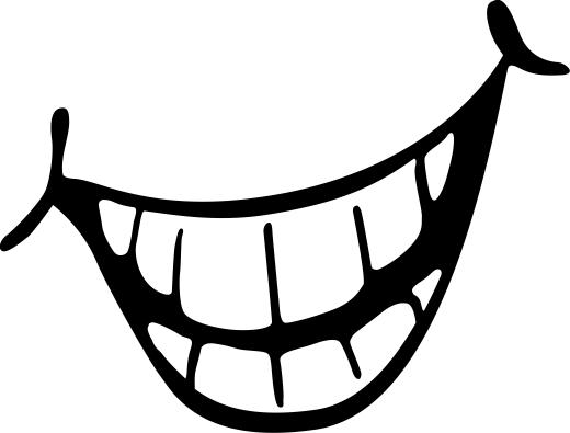 520x395 Smile Clipart Black And White