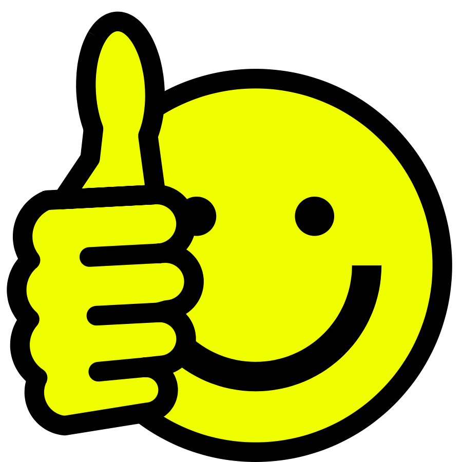 900x900 Smiley Face Clip Art Thumbs Up Free Clipart Images 6