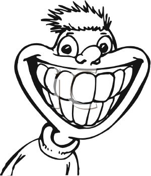 300x350 Grin Clipart Black And White