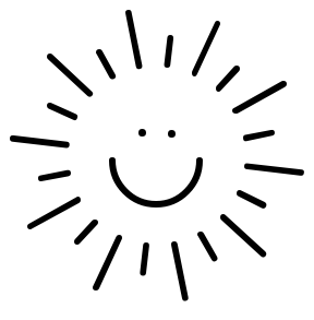 288x293 Happy Sun Black And White Clipart