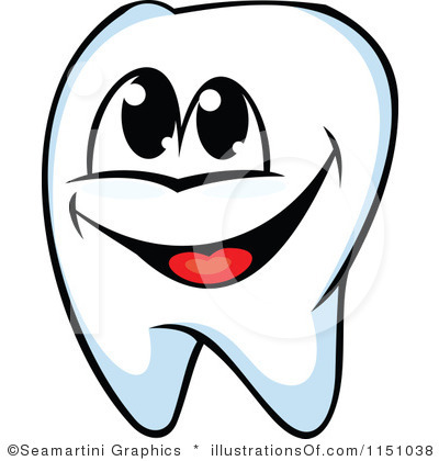 400x420 In A Tooth Smile Clipart
