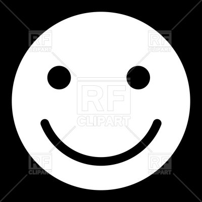 400x400 Smile Smiley On Black Background Royalty Free Vector Clip Art