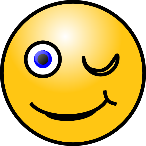 600x600 Wink Smiley Clip Art