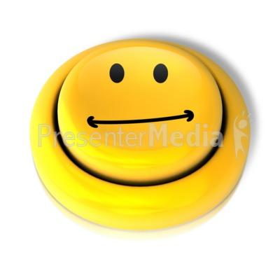 400x400 Smiley Face Neutral Button