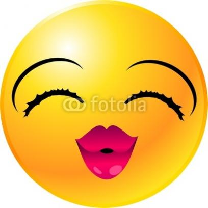 408x408 Clip Art Big Smile And Wink Clipart