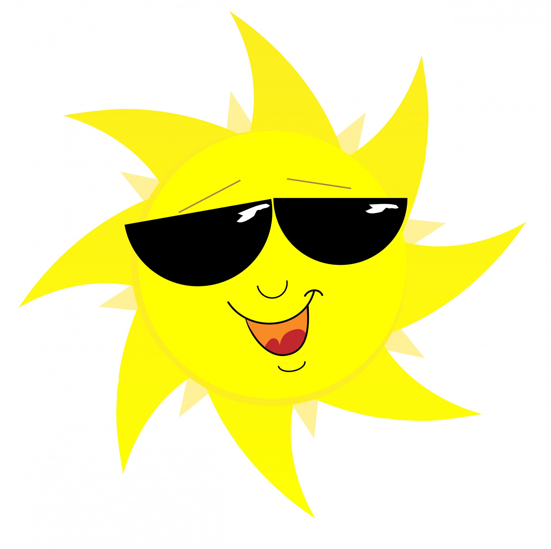 1920x1913 Smiling Sun Face In Sunglasses Free Stock Photo