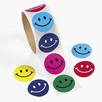 355x355 Fun Express 100 Smile Face Roll Stickers (1 Roll