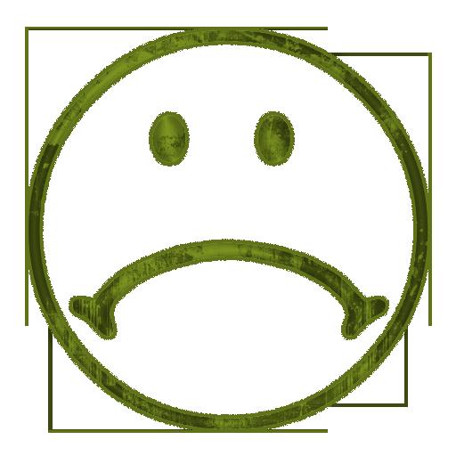 512x512 Sad Face Icon Style 1