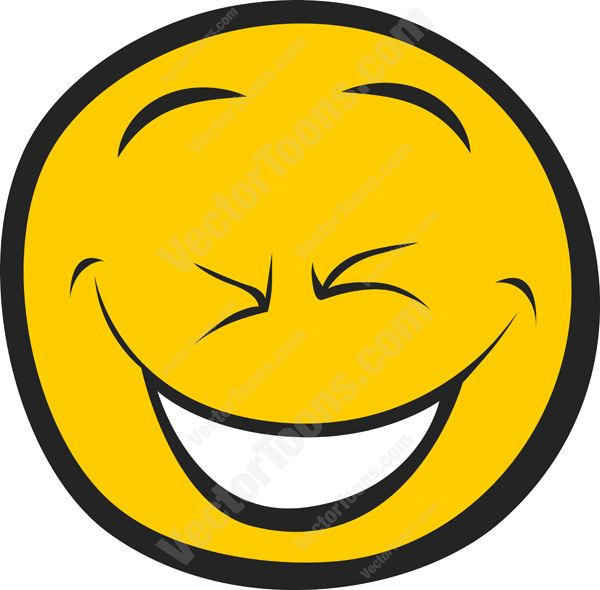 600x590 Hilarious, Hard Laughing, Cracked Up Smiley Face Cartoon Clipart