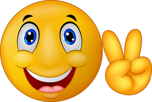 500x338 Cute Smile Emoticon Icons Vectors Set 01