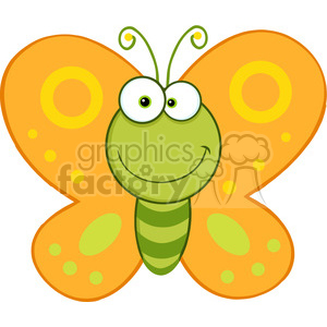 300x300 Royalty Free 5612 Royalty Free Clip Art Smiling Butterfly Cartoon