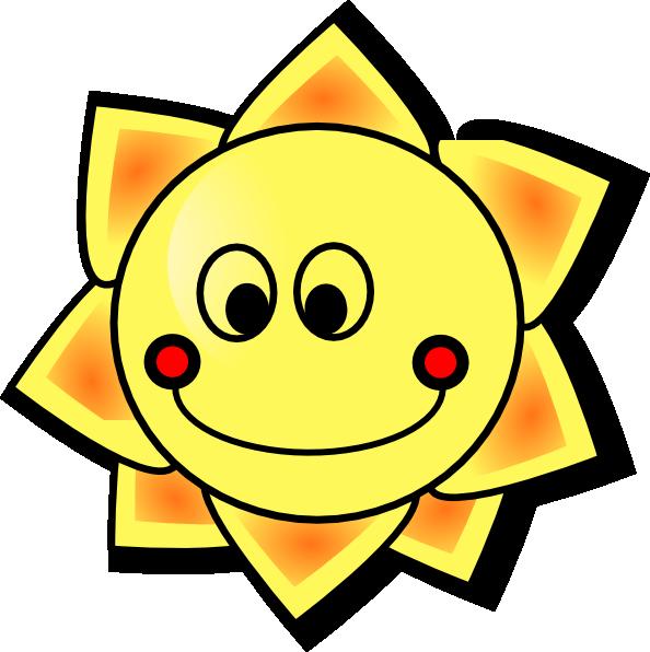 594x596 Smiling Sun Clip Art