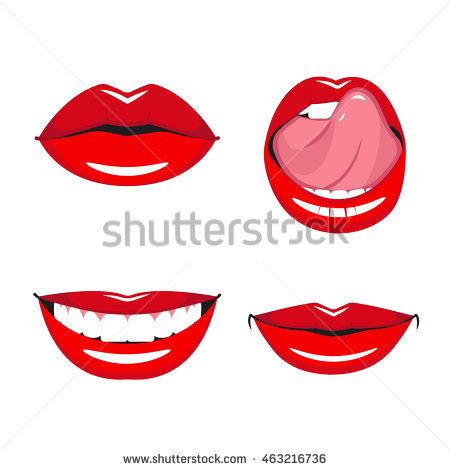450x470 Grin Clipart Smile Lip