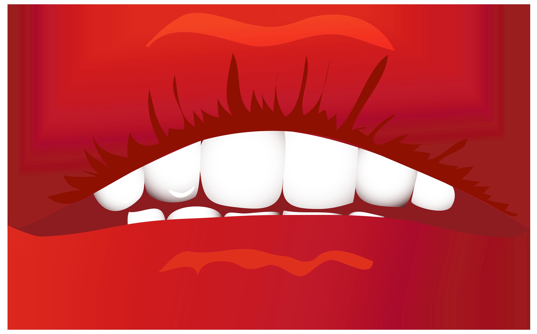 3000x1867 Lips Clipart
