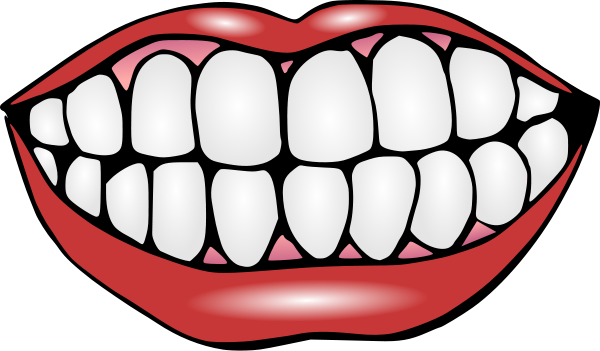 600x351 Mouth Clip Art Black And White Free Clipart Images 4