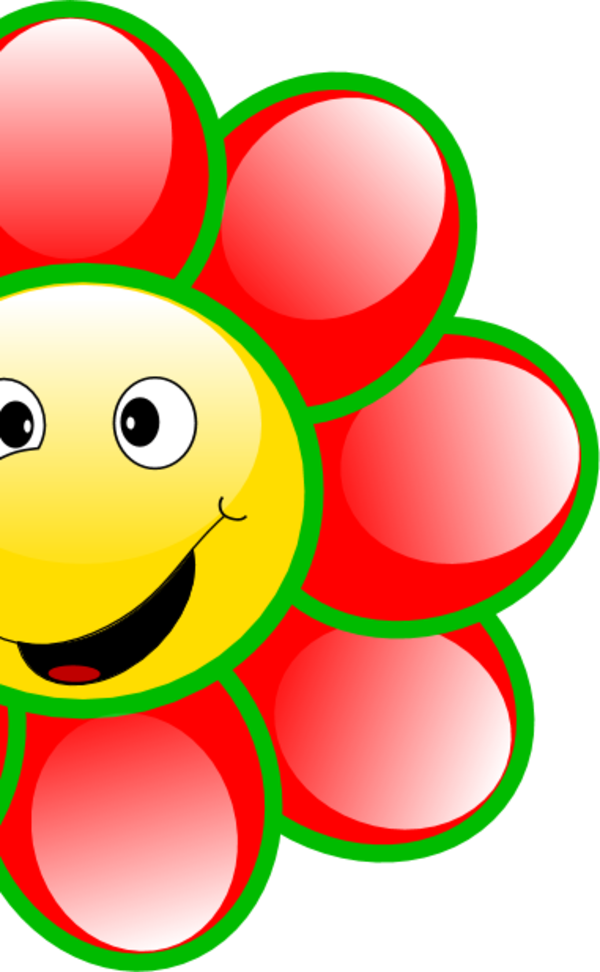 600x972 Smiling Flowers Clipart
