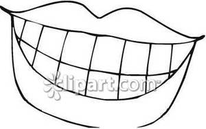 300x189 Mouth Clipart Black And White