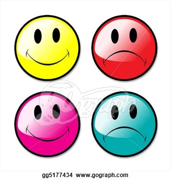350x370 Happy Face Sad Face Clipart