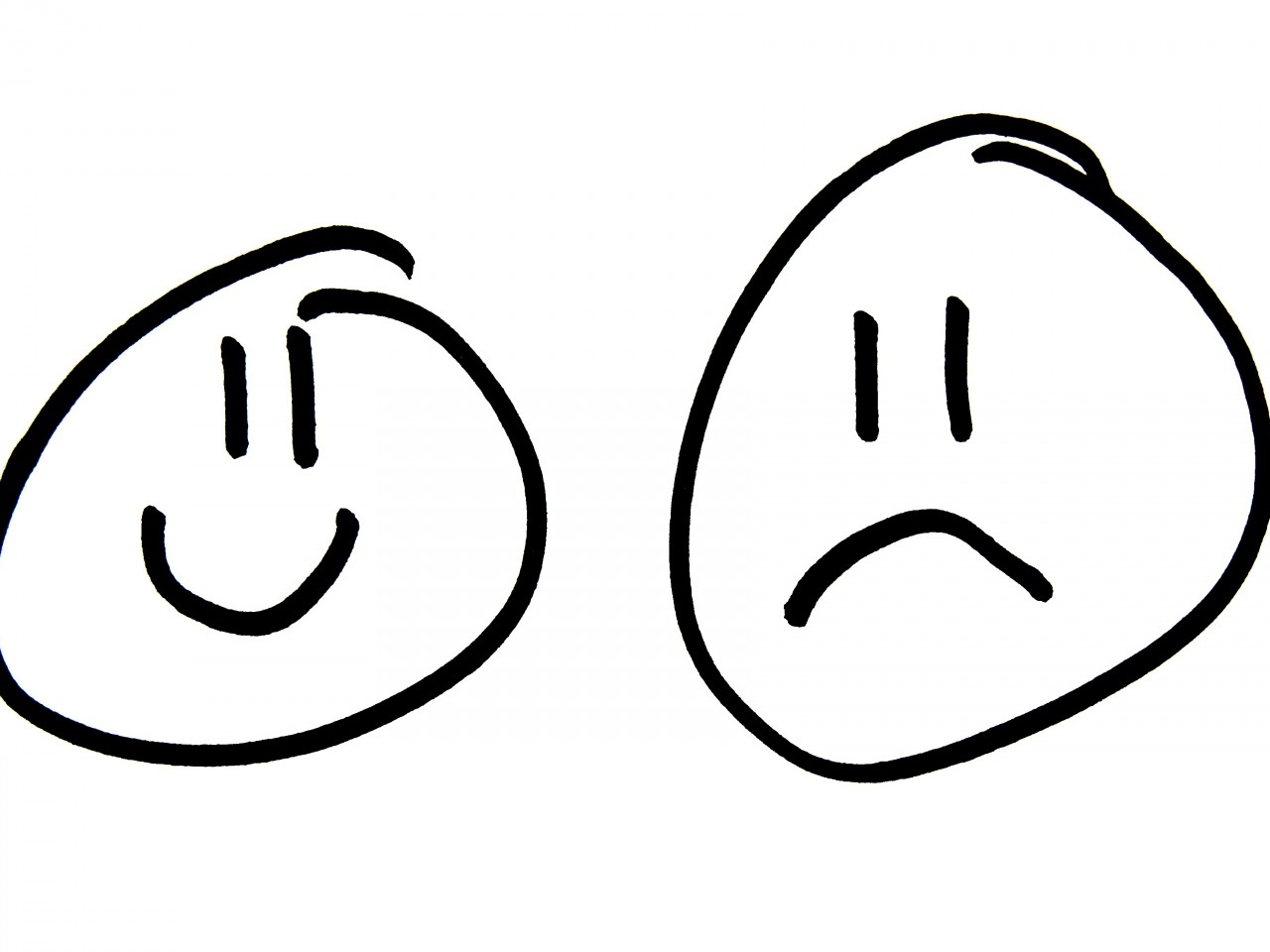 1280x960 Sad Clipart Face Outline