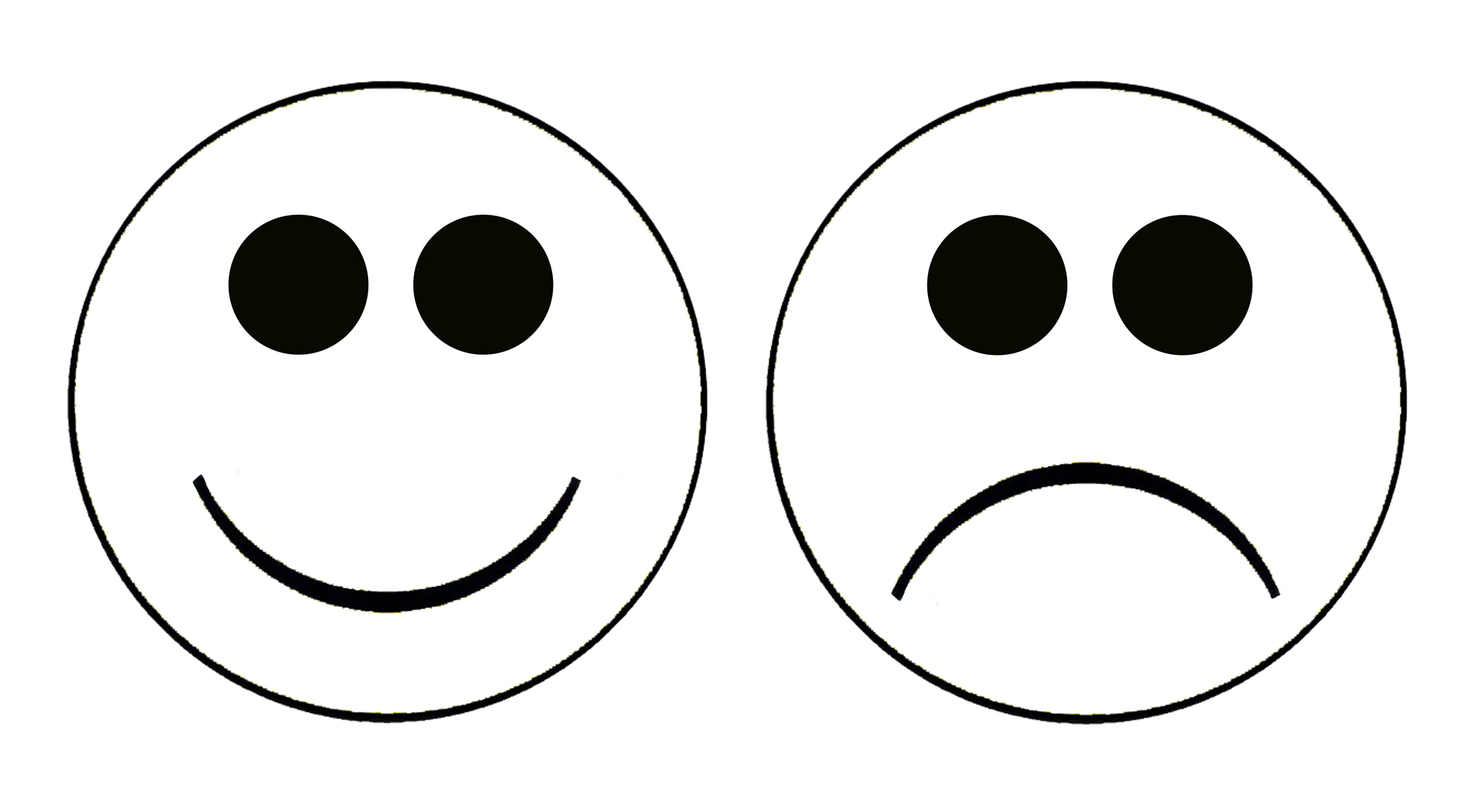 2192x1206 Sad Face Happy Sad Clipart Kid