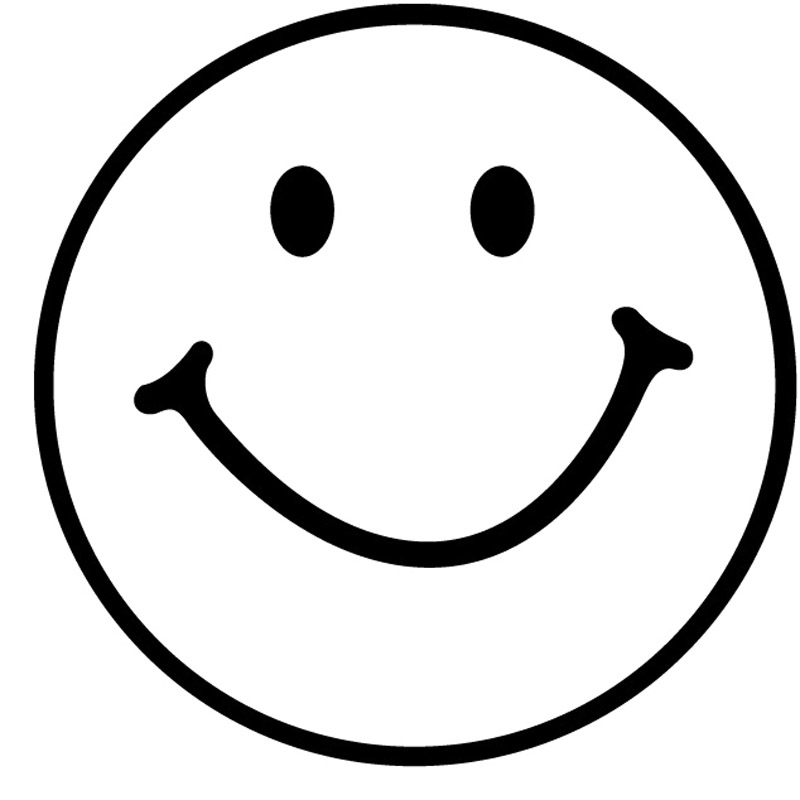 800x800 Smiley Face Black And White