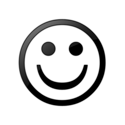 512x512 Free Smiley Face Clipart Black And White Image
