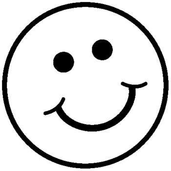 350x350 Smiley Face Black And White Happy Face Clip Art Black And White