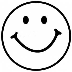 300x300 Best Black And White Smiley Face