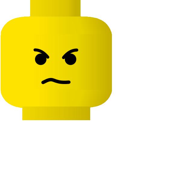 600x581 Lego Smiley Angry Clip Art Free Vector 4vector