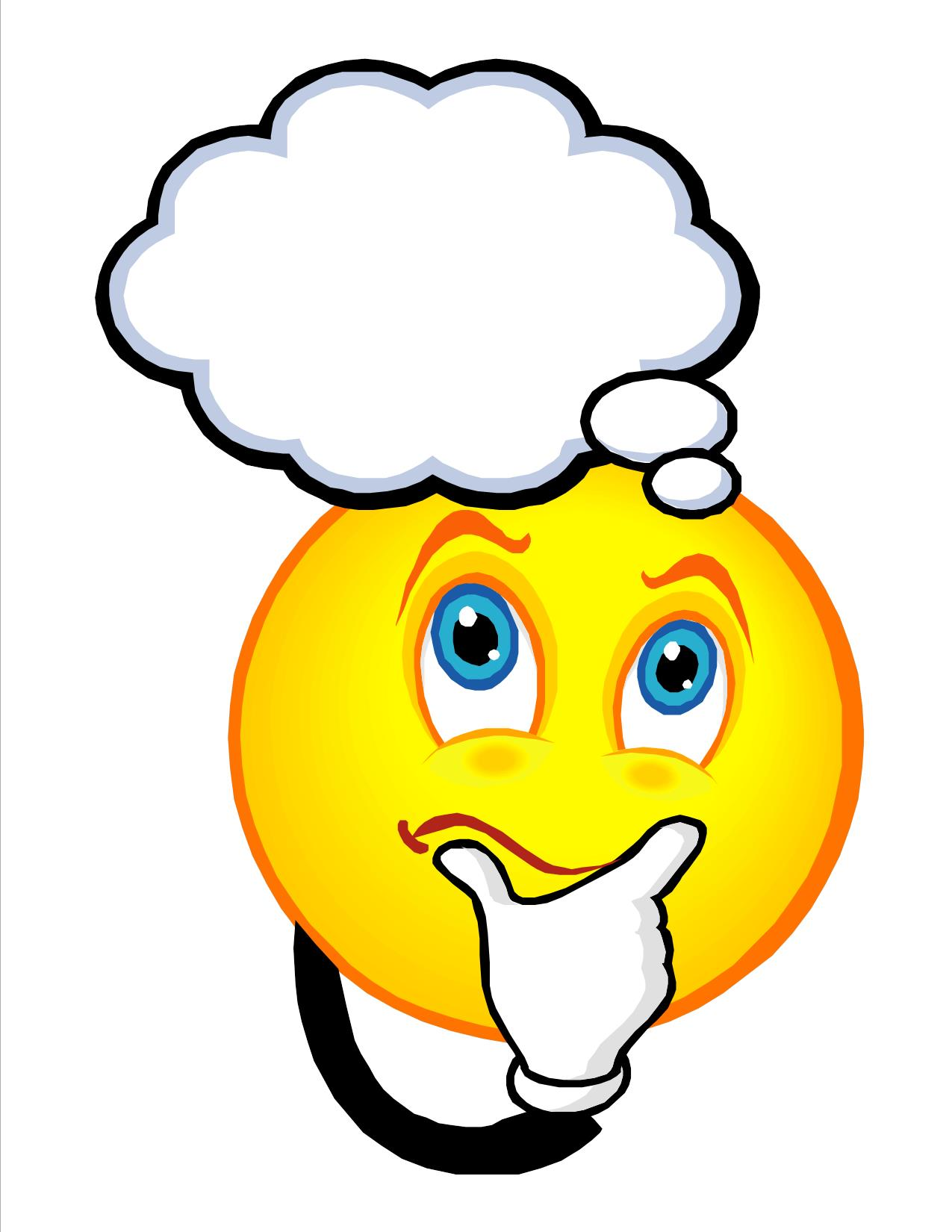 1275x1650 Smiley Clipart Thinking