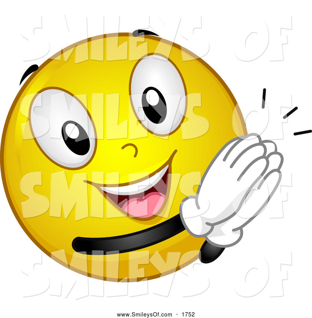 1024x1044 Vector Smiley Clipart Of Athrilled Smiley Clapping By Bnp Design