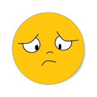 324x324 Sad Face Stickers