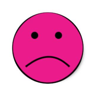 324x324 Sad Face Stickers Zazzle