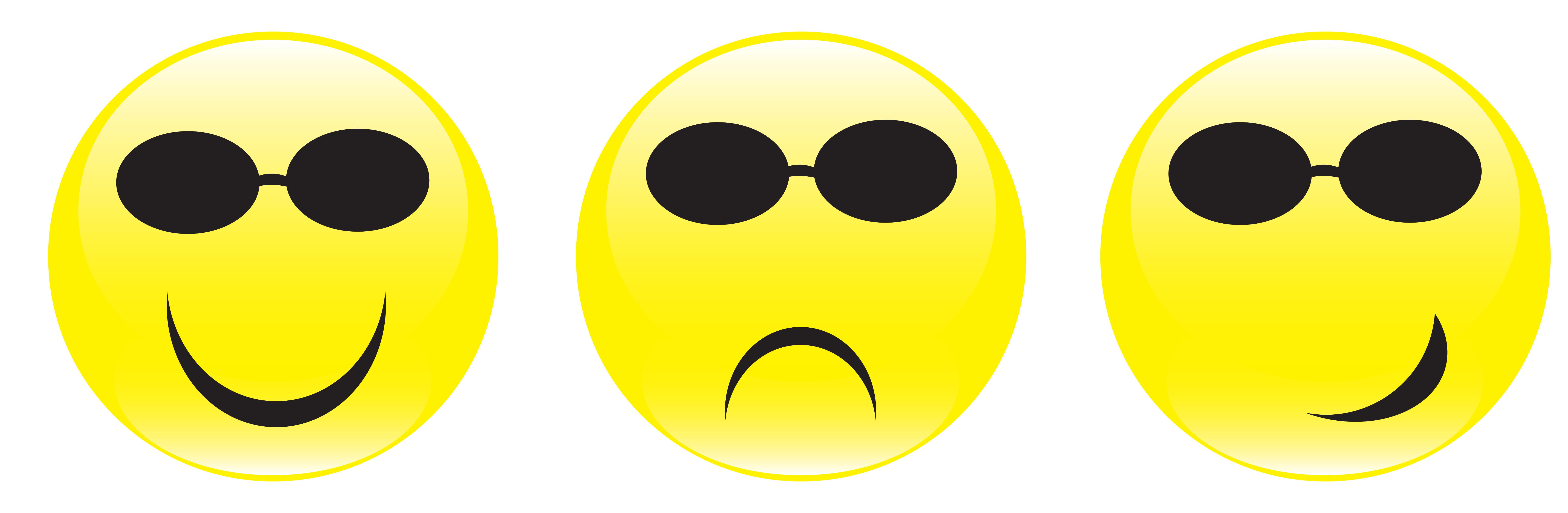 7293x2388 Smiley Face Sad Face Straight Face