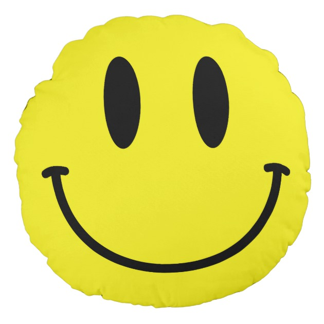 630x630 Smiley Face And Sad Face Yellow Round Pillow