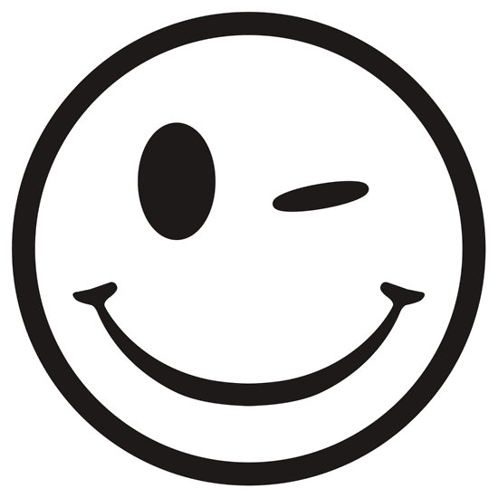 550x550 Free Smiley Face Clipart Black And White Image
