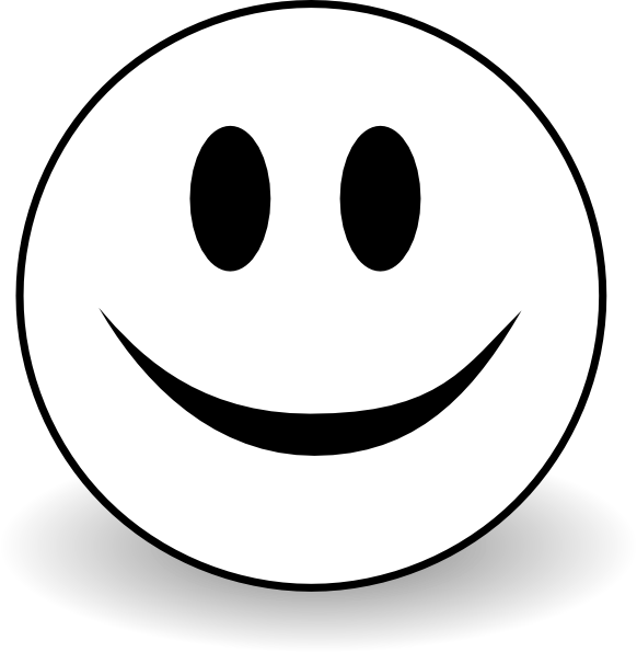 582x595 Free Smiley Face Clipart Black And White Image
