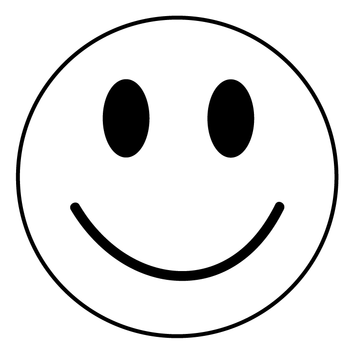 720x720 Smiley Face Clipart Black And White Clipart Panda