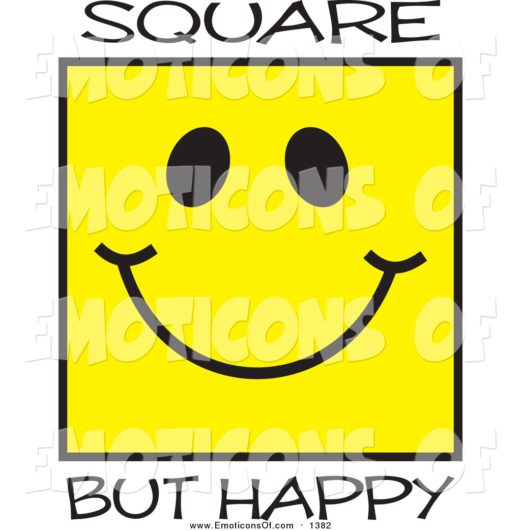 1024x1044 Clip Art Vector Cartoon Of A Square Happy Yellow Face By Johnny