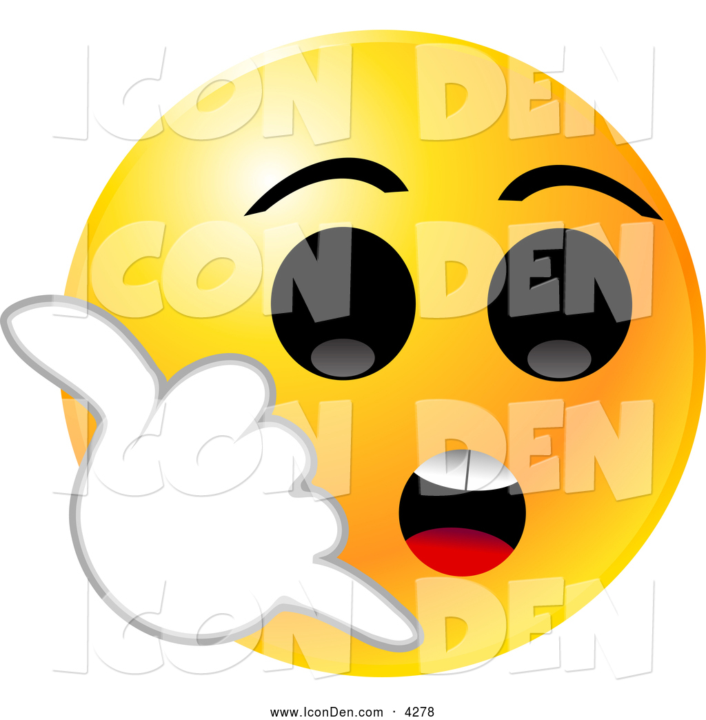 1024x1044 Clip Art Of A Yellow Emoticon Face With Big Black Eyes, Holding