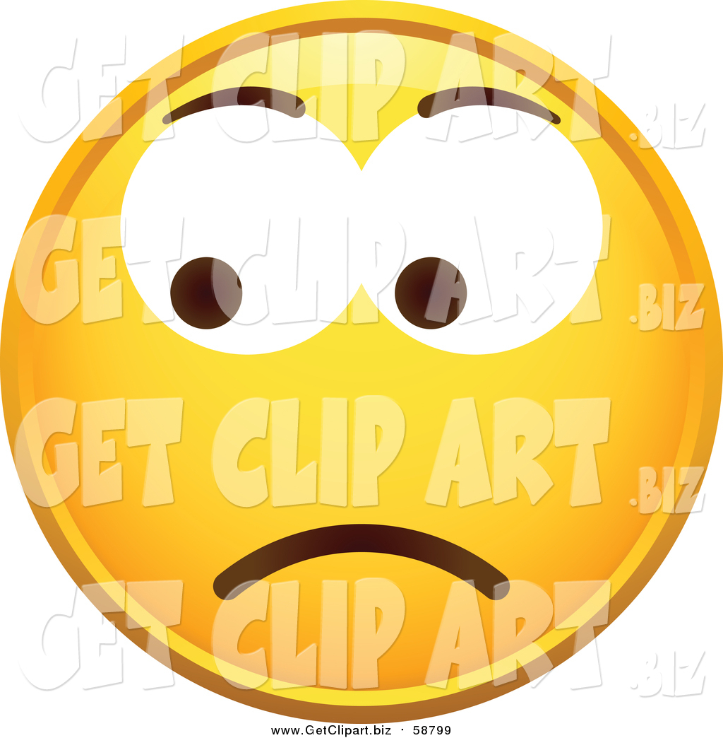 1024x1044 Clip Art Of A Yellow Worried Smiley Face By Beboy