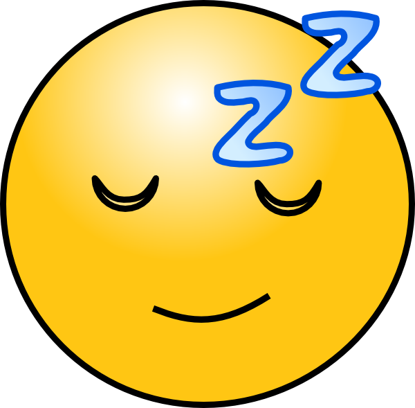 600x589 Sleepy Smiley Face Clip Art