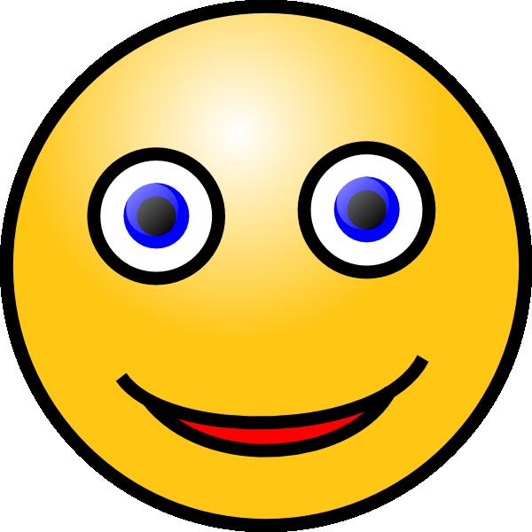 600x600 Smiley Face Clip Art Free Vector 4vector
