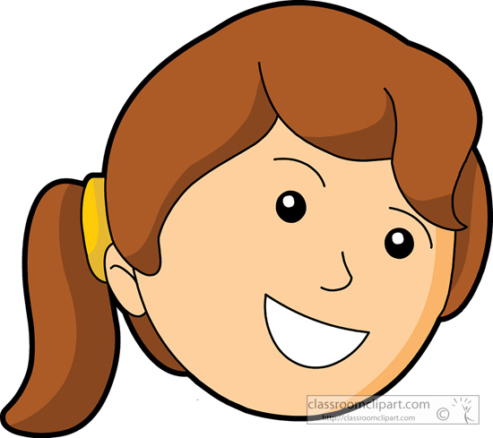 550x489 Cartoon Girl Smiling Clipart