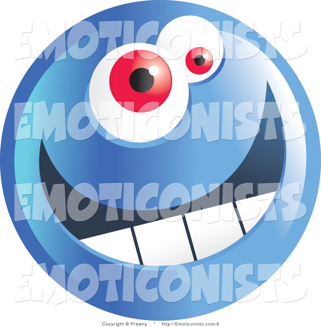 1024x1044 Vector Clip Art Of A Crazy Blue Emoticon Face Smiley By Prawny