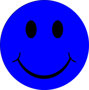 297x298 Happy Face Blue Smiley Face Clip Art